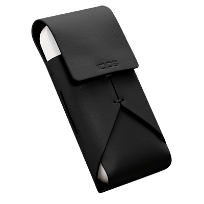 IQOS 2.4 Plus Leather Pouch Black, Black, large