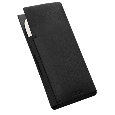 IQOS 2.4 Plus Leather Sleeve Black, Black, large