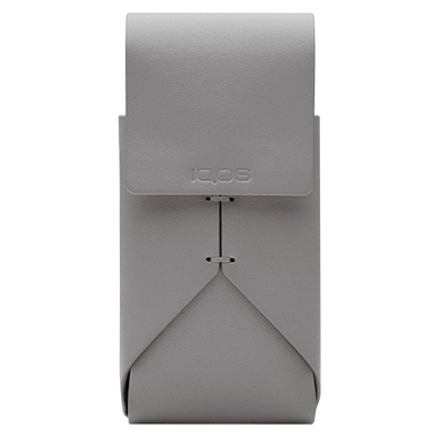 IQOS 2.4 Plus Leather Pouch Grey, Grey, large