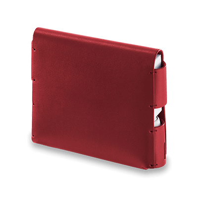 IQOS 3 Leather Folio Deep Red