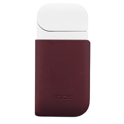 IQOS 2.4 Plus Leather Clip Burgundy, Burgundy, large