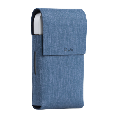 IQOS 2.4 Plus Duo Folio Fabric Light Blue, Navy, large