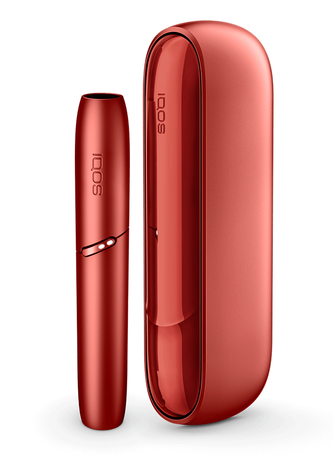 IQOS 3 DUO device in red